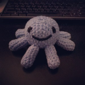 Octopus! This is the first stuffie I made